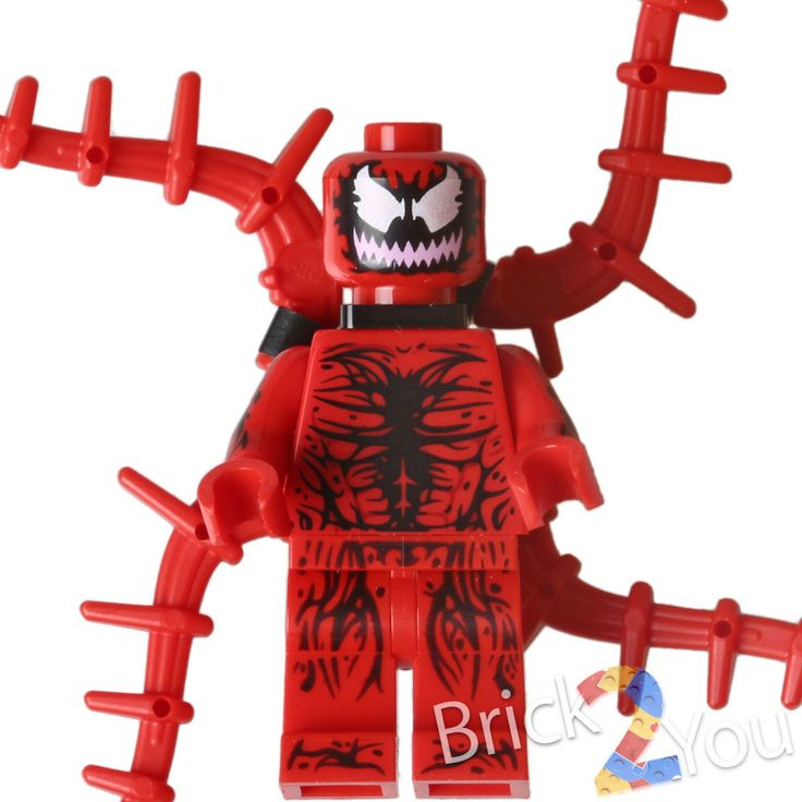 Lego CARNAGE Minifigure from 76036 Camage's SHIELD Sky Attack Ultimate Spiderman #LEGO