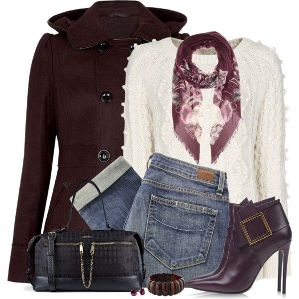 Matching Boots and Coat ~~ Burgundy