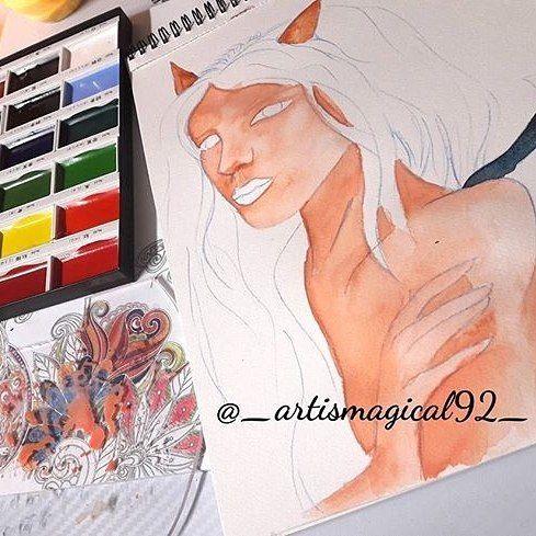 Reposting @_artismagical92_ . . . . . #art #girlportrait #artstagram #artnerd #artistlife #artphoto #artworks #artlovers #artlover #artlife #artists #artistoninstagram #artislife #artstudio #watercoloraddict #watercolorart #portrait #watercolorpencil #wip #painting #artofinstagram #watercolorpainting #artwork #artgram #artmaking #watercolorgirl #artista #instart #deviantart #illustration