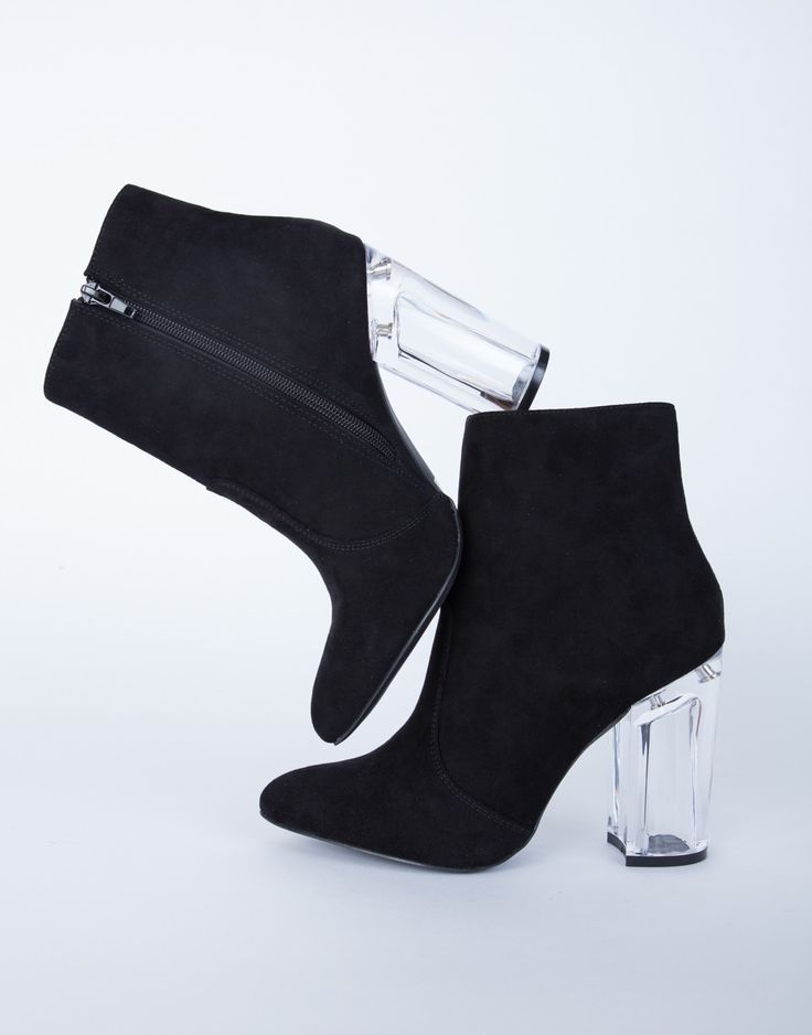 Featured: 3 Looks to Slay 2017 Step out and make a statement this season in our Clear Heel Boots! You will love this edgy and chic style. Comes in a black and blush color of your choice. Made from a f