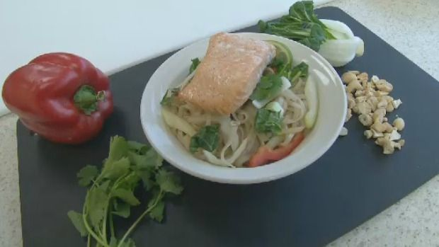 A quick and easy recipe for Thai salad with lime chili vinaigrette and baked salmon. Click on the link for the recipe http://atlantic.ctvnews.ca/thai-salad-with-lime-chili-vinaigrette-and-baked-salmon-1.2773703