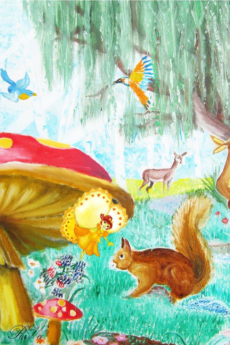 La farfalla Miranda porta i messaggi agli animali del bosco. @rosalucebooks
