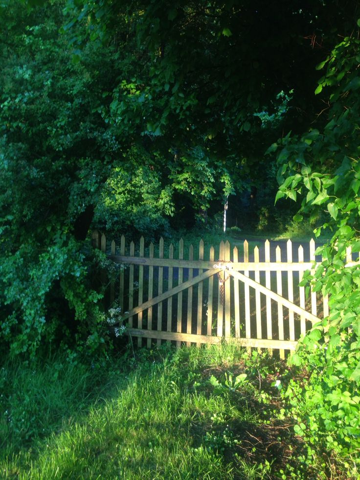 Lencloitre, France. Gate to the Forest