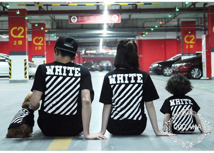 【注目度爆発】オフホワイト 親子服 tシャツ OFF WHITE SPRAY プリント半袖Tシャツ 犬服 レディース メンズ ドッグウェア ストレート系 新作☆ http://www.cozaka.com/goods/off-white-dog-t-shirt-168.html