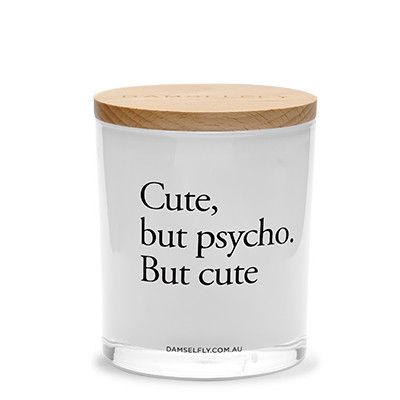 Cute, But Psycho - XL Candle from DAMSELFLY