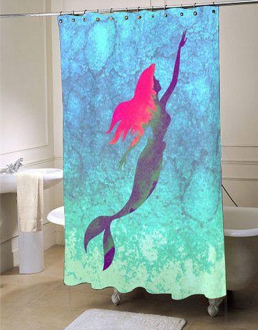 Disney's The Little Mermaid shower curtain customized design for home decor…