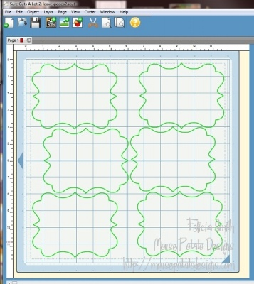 Making Pattern Templates with the Cricut - done by Felicia