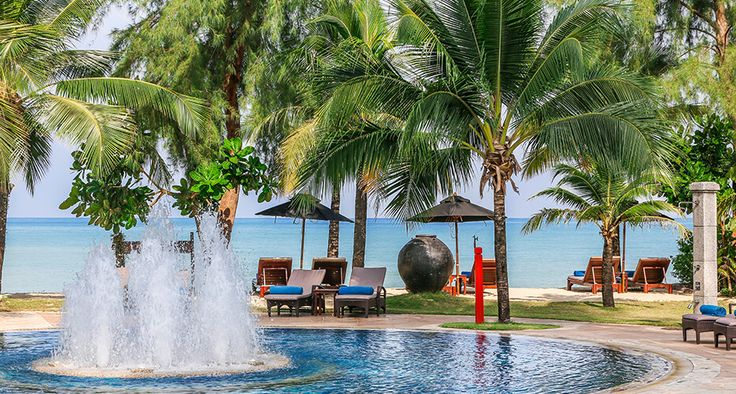 Poolside at Pullman Khao Lak Katiliya Resort and Villa's overlooking the Ocean www.pullmankhaolak.com