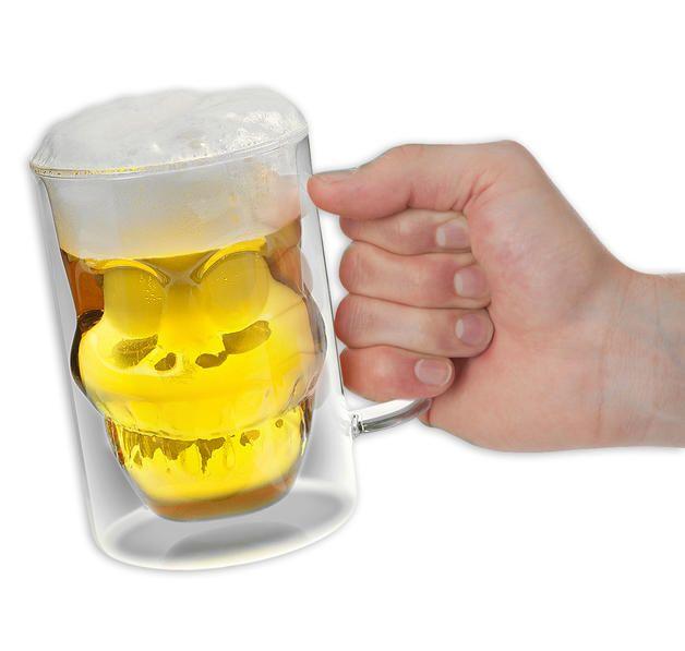 """Bierkrug """"Freddy"""" Totenkopf Bierglas Skull.  Hier bei www.closeup.de"""