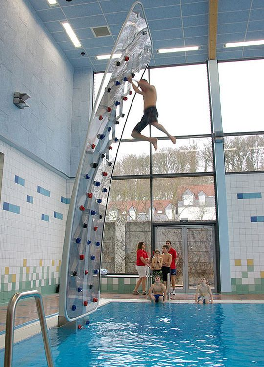 Funny Pictures About Awesome Poolside Climbing Wall. Oh, And Cool Pics  About Awesome Poolside Climbing Wall. Also, Awesome Poolside Climbing Wall  Photos.