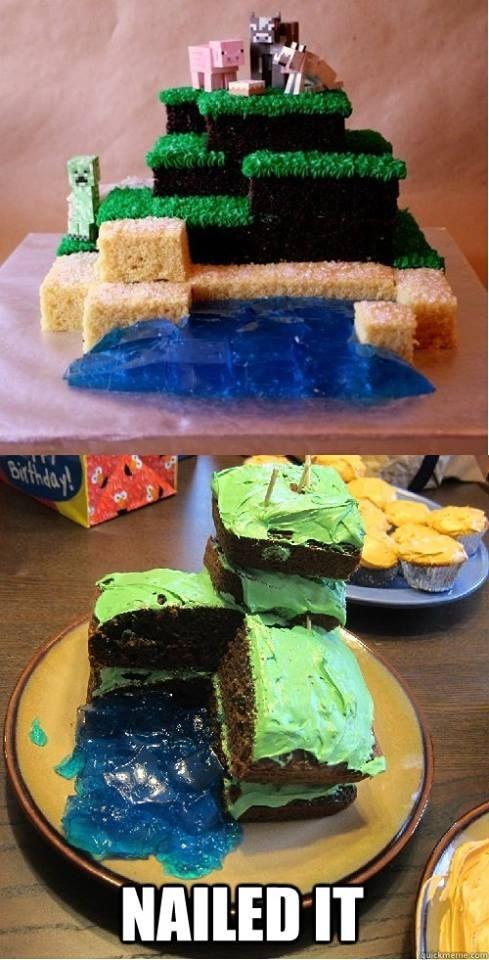 Minecraft Cake...nailed it!