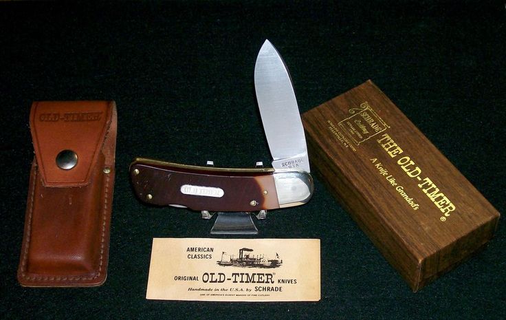 "Schrade 51OT Lockback Knife 4-3/4"" Big Timer Sunfish C-1970's W/Packaging,Papers @ ditwtexas.webstoreplace.com"