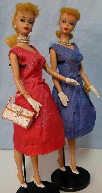 1964 Vintage Barbie Silk Campus Belle Dress