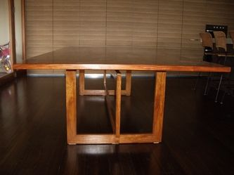 Made to order seating 16 this stunning cheery wood dining table is one to remember.