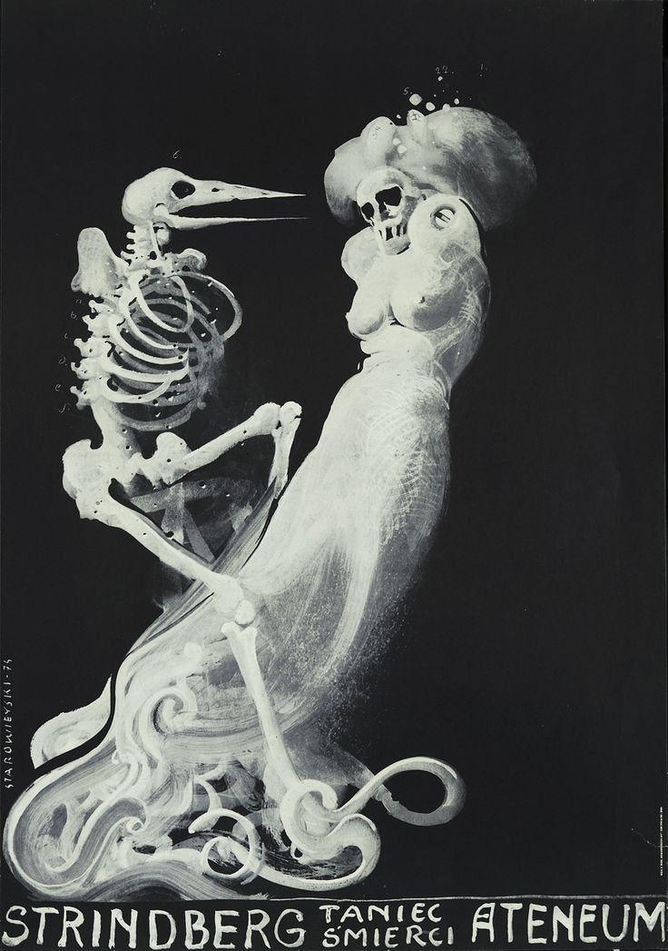 """Cemeteries Ghosts Graveyards Spirits:  """"The Dance of Death,"""" by Franciszek Starowieyski, Strindberg,1974."""