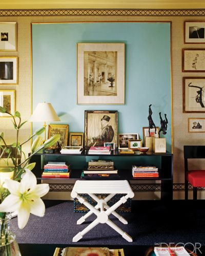 Albert Hadley set a console table of his own design