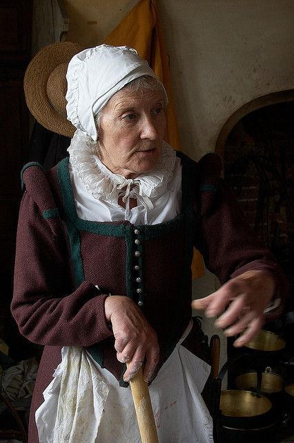 Head cook, Kentwell. late 16th century