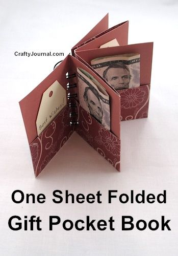 One Sheet Folded Gift Pocket Book | Crafty Journal