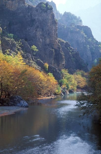 VISIT GREECE| Aoos River!  The most charming #season of the year is here! The #Greek countryside is waiting to reveal its secrets! Autumn, with golden brown foliage and mild temperature is the ideal time to visit Greece, if you are looking to experience the culture, local life, unique natural environments and sports!