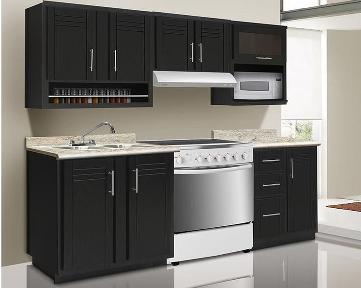 Cocina genova 240 cm con 8 puertas 3098693 coppel for Cocinas decoradas sencillas