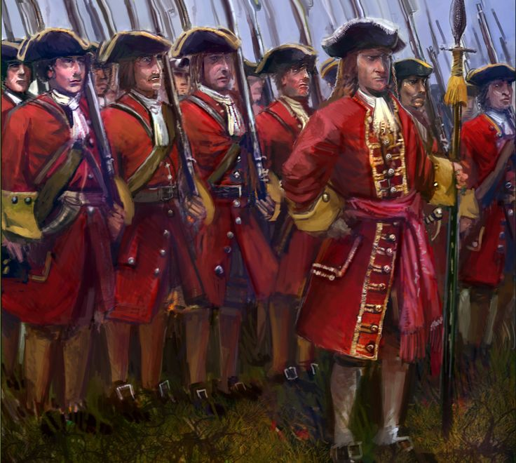 British line infantry during the Spanish War of Succession
