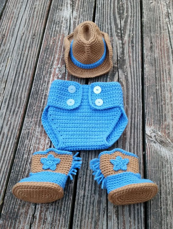 Pattern Instant Download Set Diaper Cover Cowboy Boot