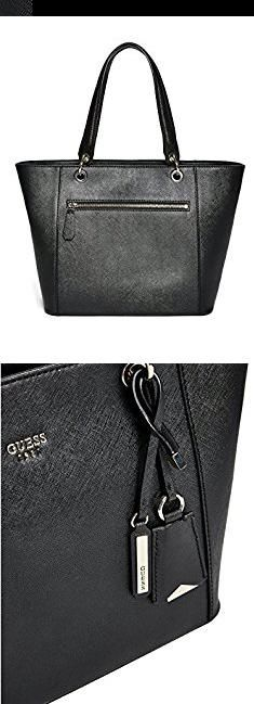 Guess Bags 2017. GUESS Kamryn Saffiano Tote, Black.  #guess #bags #2017 #guessbags #bags2017