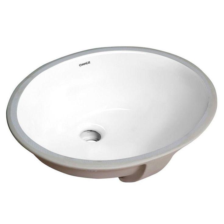 Boyel Living Oval Undercounter Bathroom Ceramic Sink White