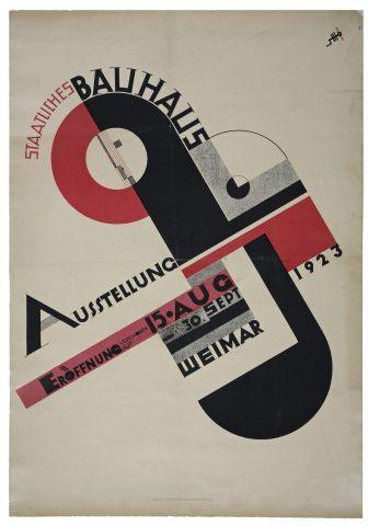 Joost Schmidt, Poster For The 1923 Bauhaus Exhibition In Weimar, 1923 68,5