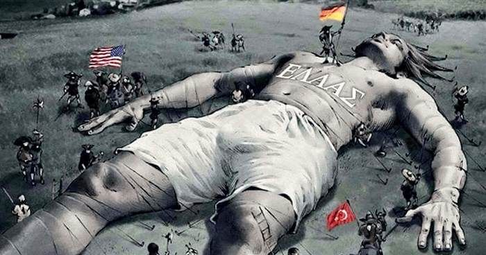 Σκίτσο με την Ελλάδα ως «Κοιμώμενο Γίγαντα» προκαλεί αίσθηση στο διαδίκτυο  #Ενημέρωση