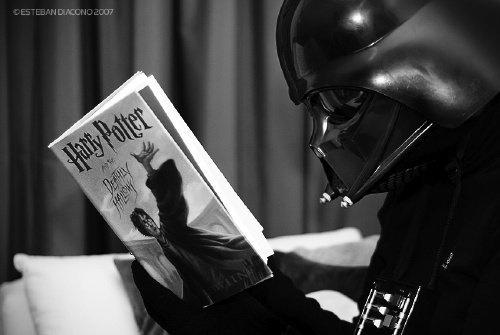 Darth Vader reading Harry Potter~Love