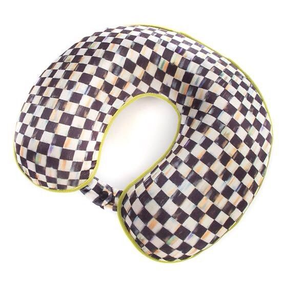 MacKenzie Child's Courtly Check Travel Neck Pillow Merry Christmas NIP  | eBay