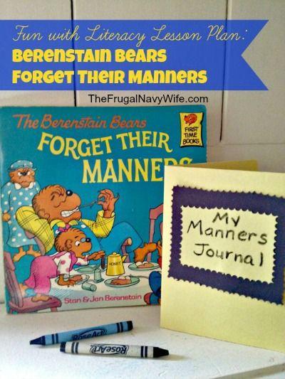 Berenstain Bears Forget Their Manners lesson Plan #homeschool #berenstainbears #lessonplan