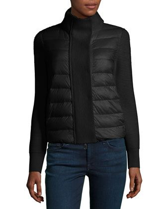 Maglione Quilted/Tricot Cardigan Jacket by Moncler at Neiman Marcus.