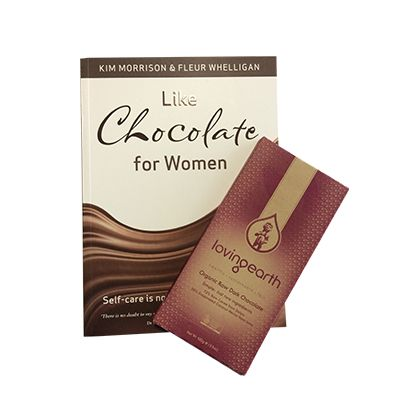 Double Chocolate Book Deal - A fantastic gift for someone to embrace all the rituals of Like Chocolate For Women and indulge at the same time with the highest quality dark chocolate by Loving Earth. 100g of dark, coconut sugar raw organic chocolate. http://www.twenty8.com/online-store/chocolate/double-chocolate-book-pack