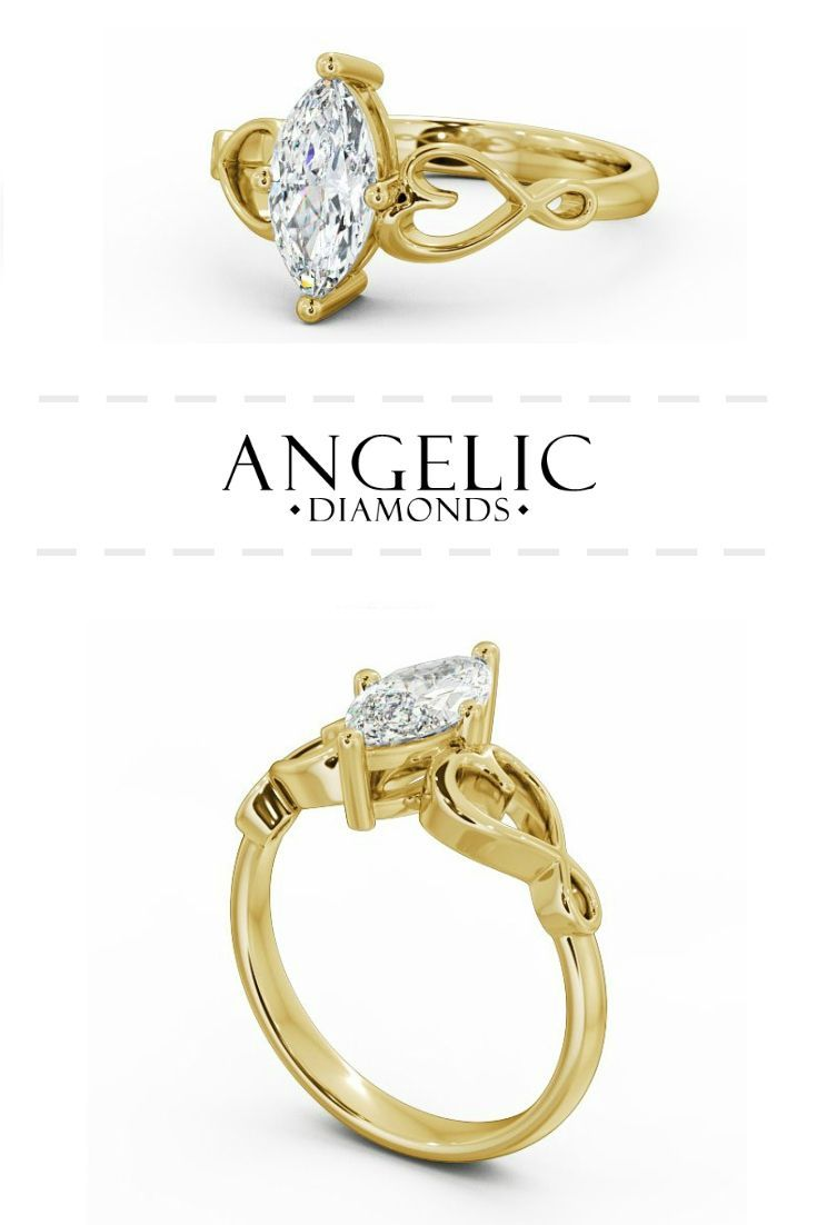Show off your unique style and timeless class with this beautiful marquise engagement ring. Find your perfect diamond engagement ring with #AngelicDiamonds and customise it to make it truly one-of-a-kind. #Engaged#Engagement#Wedding#EngagementRing#YellowGold #Gold#GoldRing#Diamond#Diamonds#DiamondRing#WeddingJewellery#WeddingJewelry#DiamondJewellery#DiamondJewelry#GoldJewellery#GoldJewelry #Ring