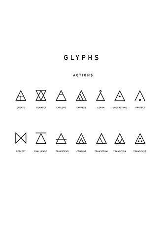 Glyphen-Alphabet für Typographen und  Designer