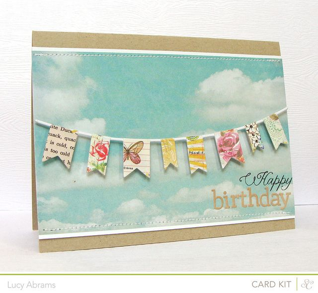 birthday banner by Lucy Abrams, via Flickr