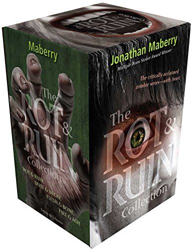 The Rot & Ruin Collection: Rot & Ruin; Dust & Decay; Flesh & Bone; Fire & Ash by Jonathan Maberry http://www.amazon.com/dp/1481430289/ref=cm_sw_r_pi_dp_155vub13JX0AC
