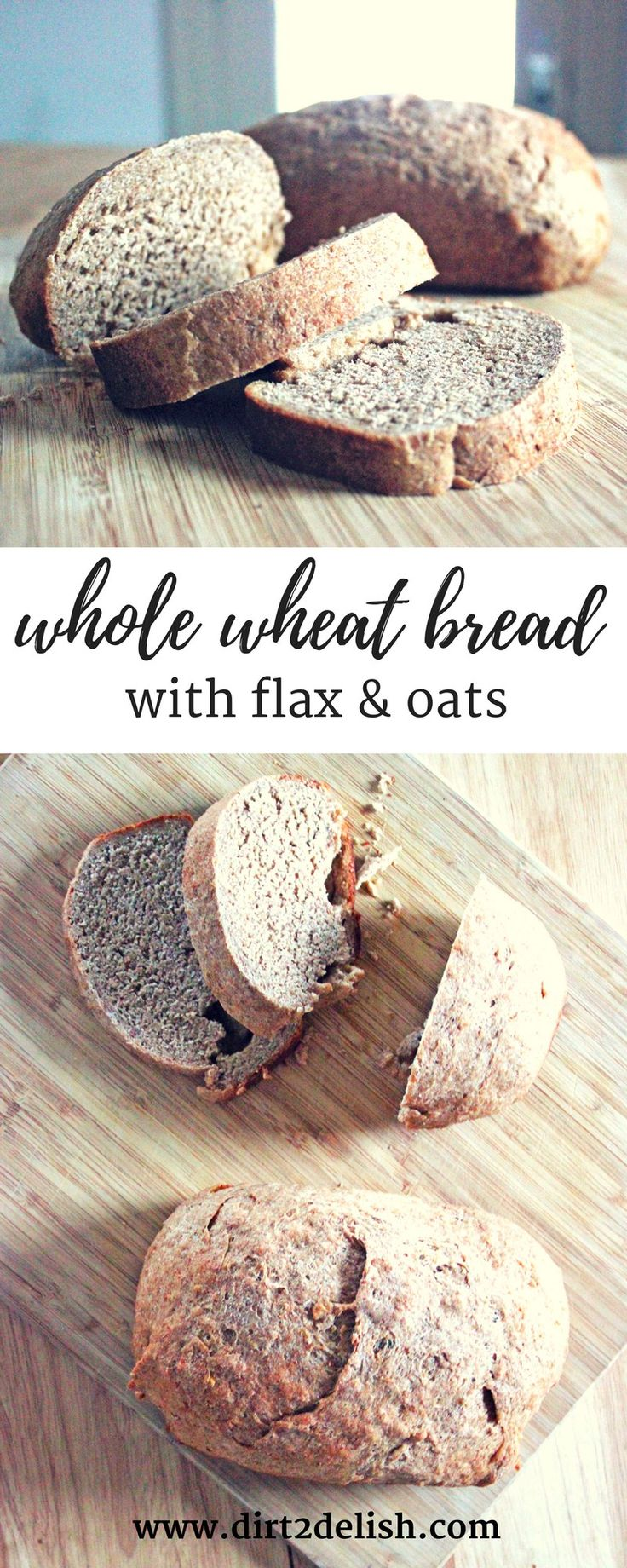 Whole Wheat Bread with Flax and Oats | A hearty whole wheat bread amped up with flax and oats, this recipe is a healthier version of a homemade classic with an extra nutritional punch.