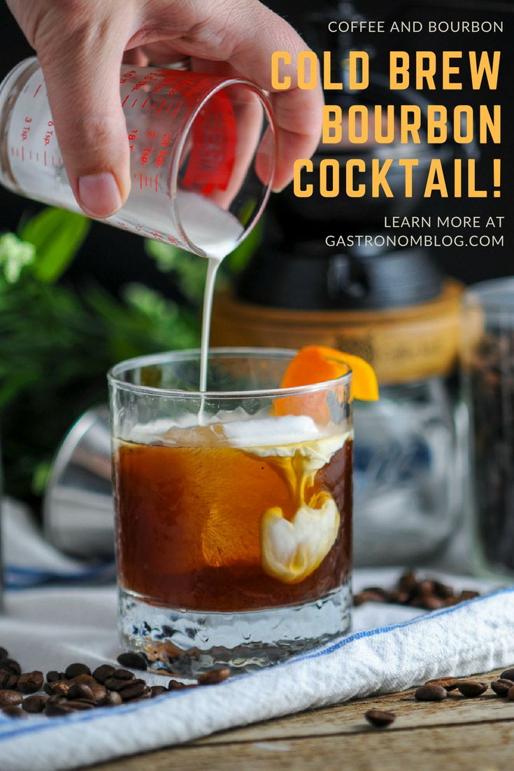 Cold brew bourbon cocktail cream maple syrup triple