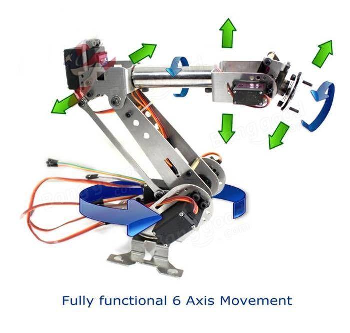 DIY 6DOF Aluminium Roboterarm 6 Achse rotierenden mechanischen Roboterarm Kit