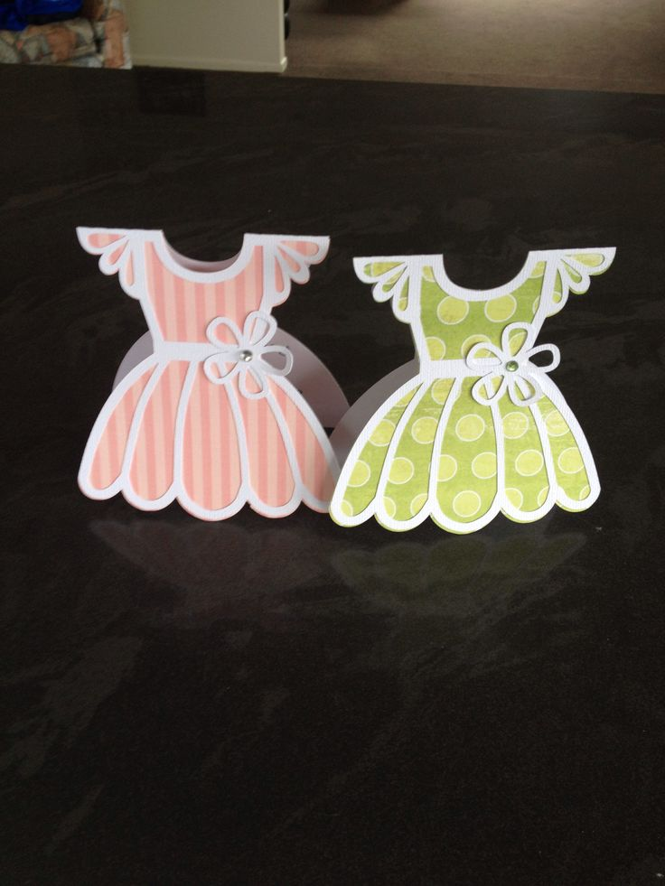 Cameo Silhouette Dress Card