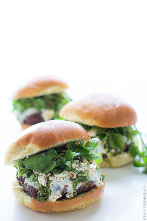 Mediterranean Lamb Burger via Real Food by Dad | @leanonlamb