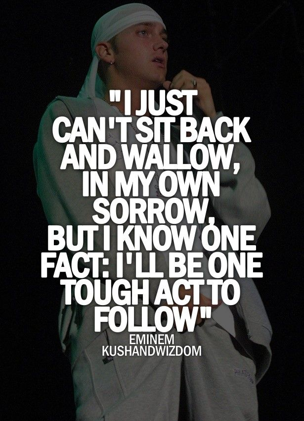 I'll be One tough act to Follow FAVORITE EMINEM LYRICS EVER