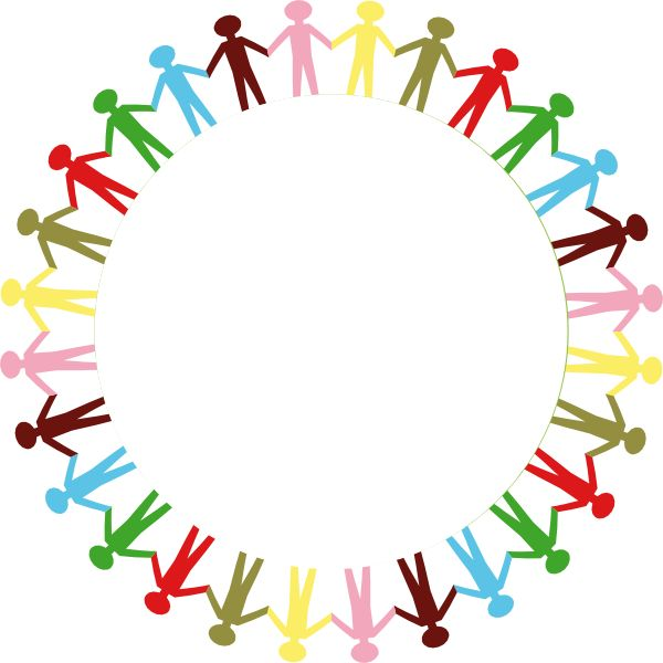 People Clip Art | Holding Hands Stick People Multi Coloured clip art ...
