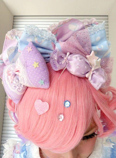 Fairy kei, lolita puffy hair bows