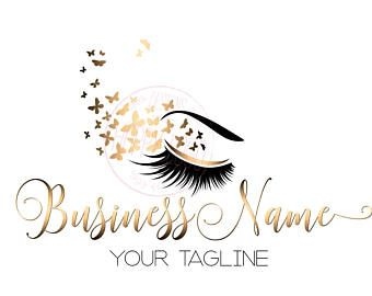 4885a0dadd1 DIGITAL Custom logo design , lash butterfly logo, eye gold lashes beauty  logo, makeup logo, gold lashes logo design, gold beauty logo lash