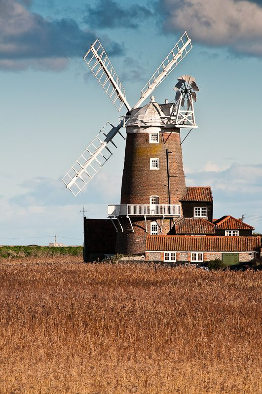 Cley Windmill, Cley-next-the-sea, Holt, Norfolk www.cleywindmill.co.uk                                                                                                                                                                                 More