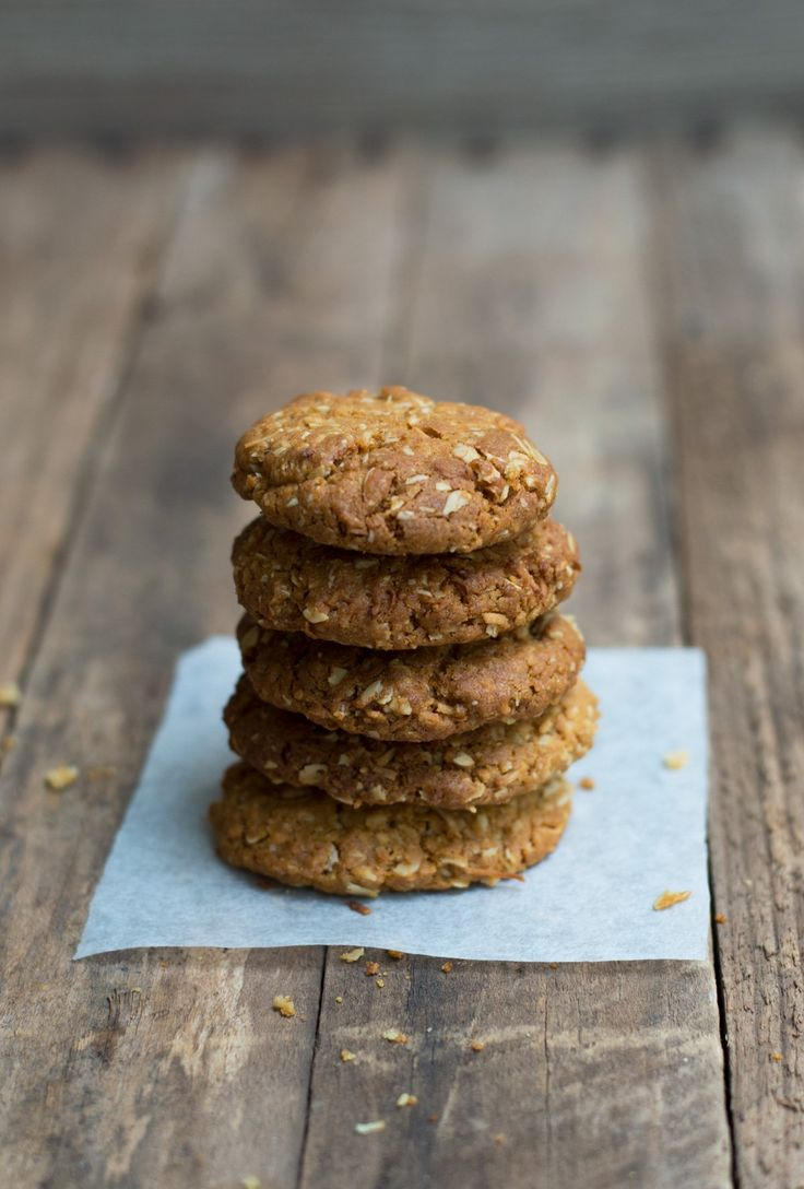 Thermomix Anzac Biscuits - crunchy, golden & delicious.